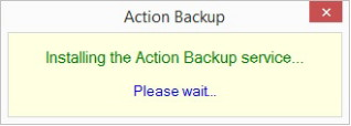 Installing the Action Backup service